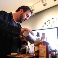 Brady Lowe poured himself a drink.