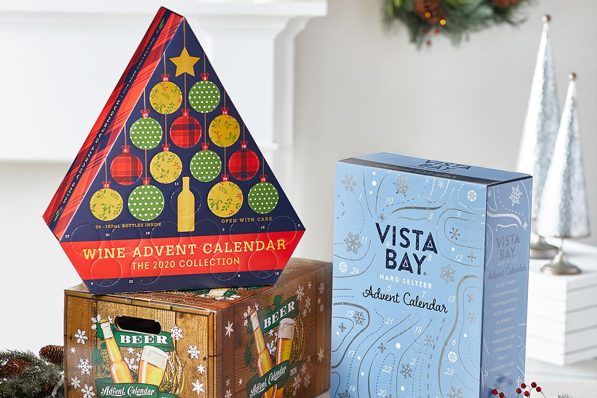 Aldi Christmas 2020 Aldi's 2020 Advent calendar collection featuring wine, beer