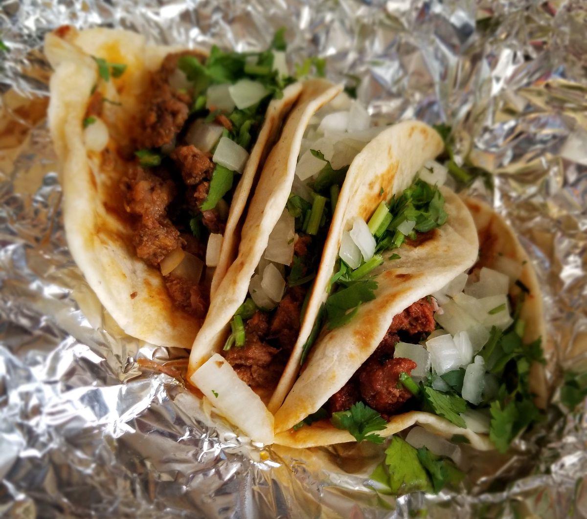 tacos in foil