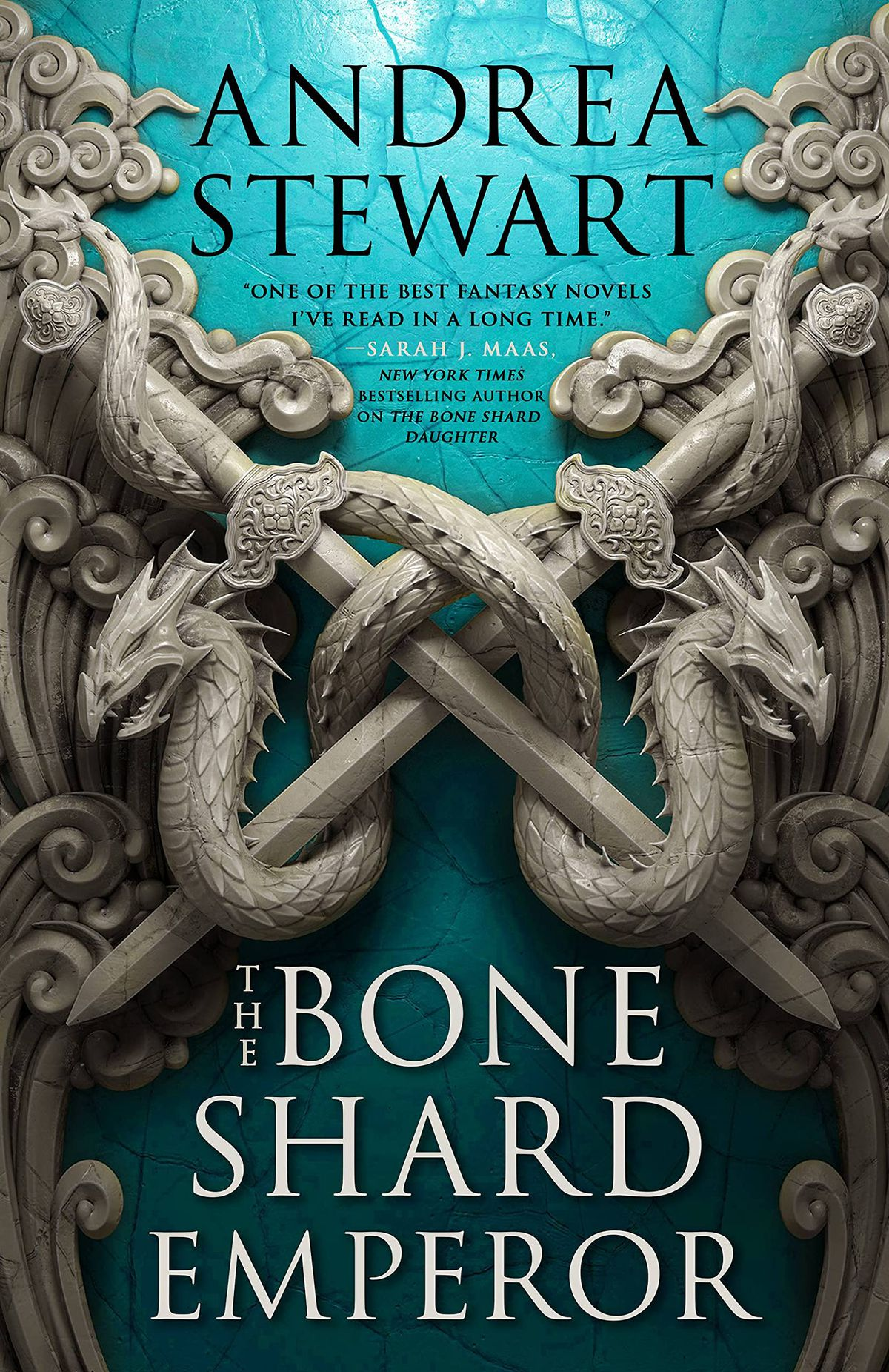 The Bone Shard Emperor by Andrea Stewart book cover