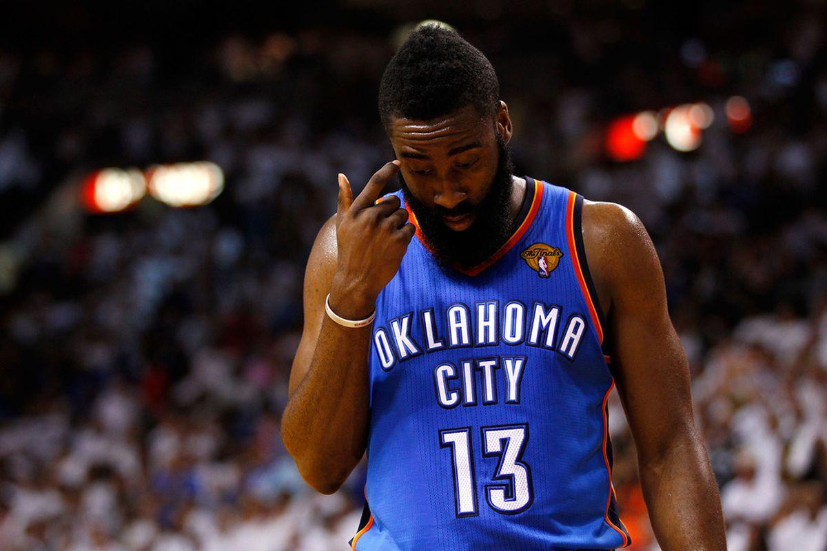 The Beard sheds a tear for Oklahoma City.