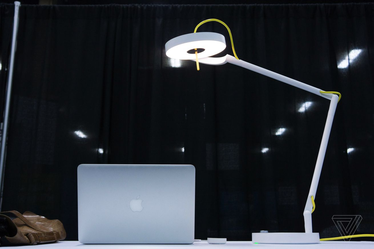 this lamp beams internet to your laptop