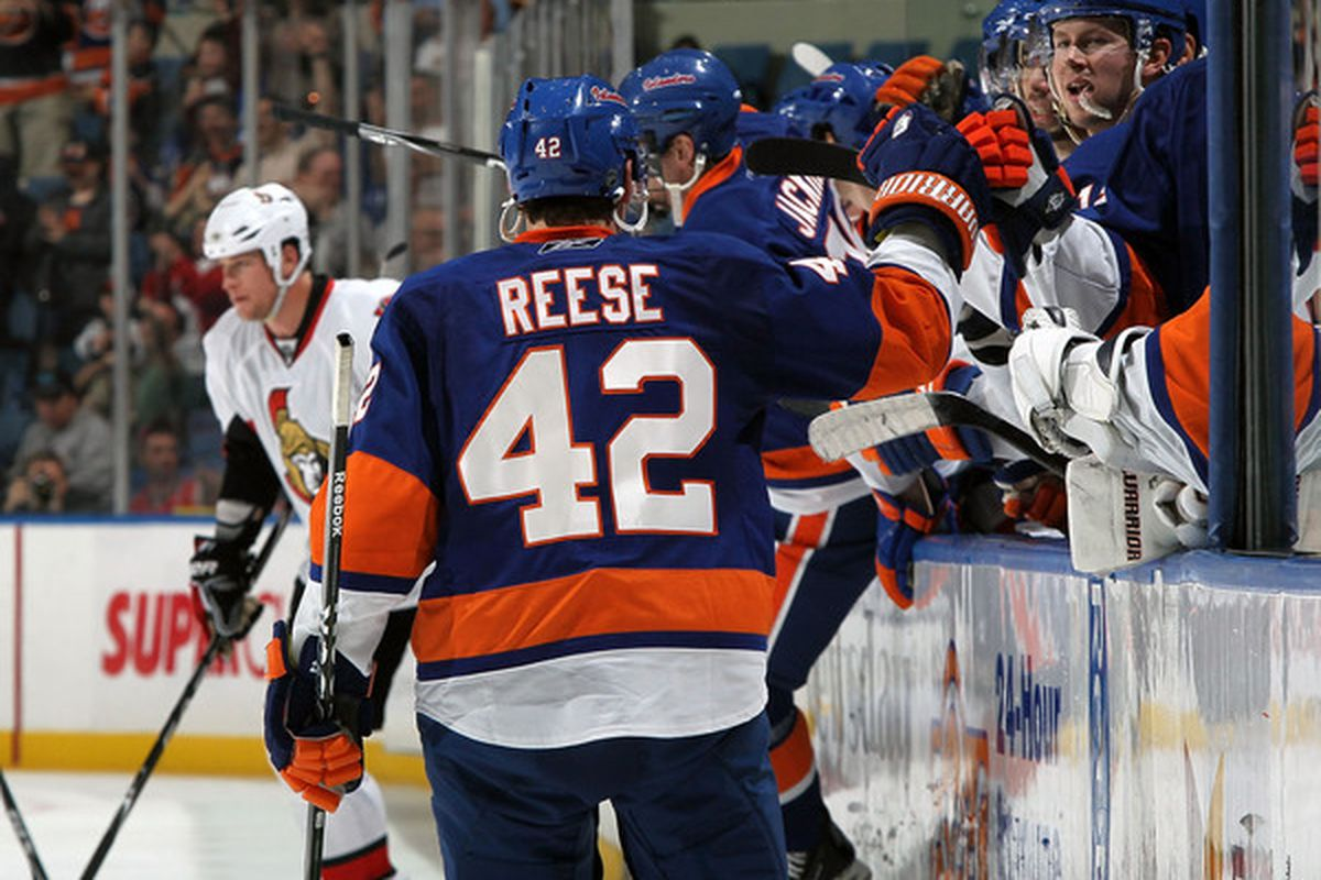 Dylan Reese: 2 goals, +6 in 15 GP spent mostly with Freddy Meyer. Andy Sutton, left, can't bear to look.