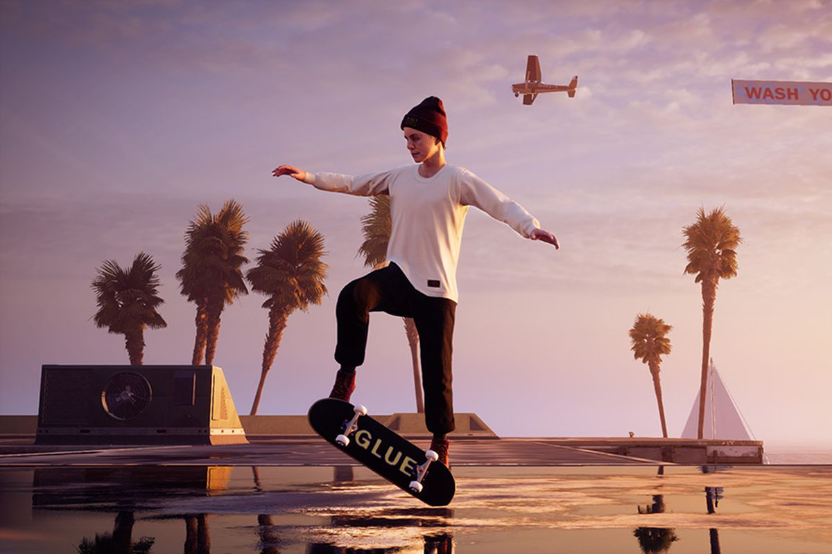 A skater in Tony Hawk's Pro Skater 1 and 2 doing a trick