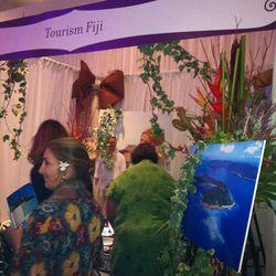 Bridezillas flocked to the Fiji honeymoon booth.