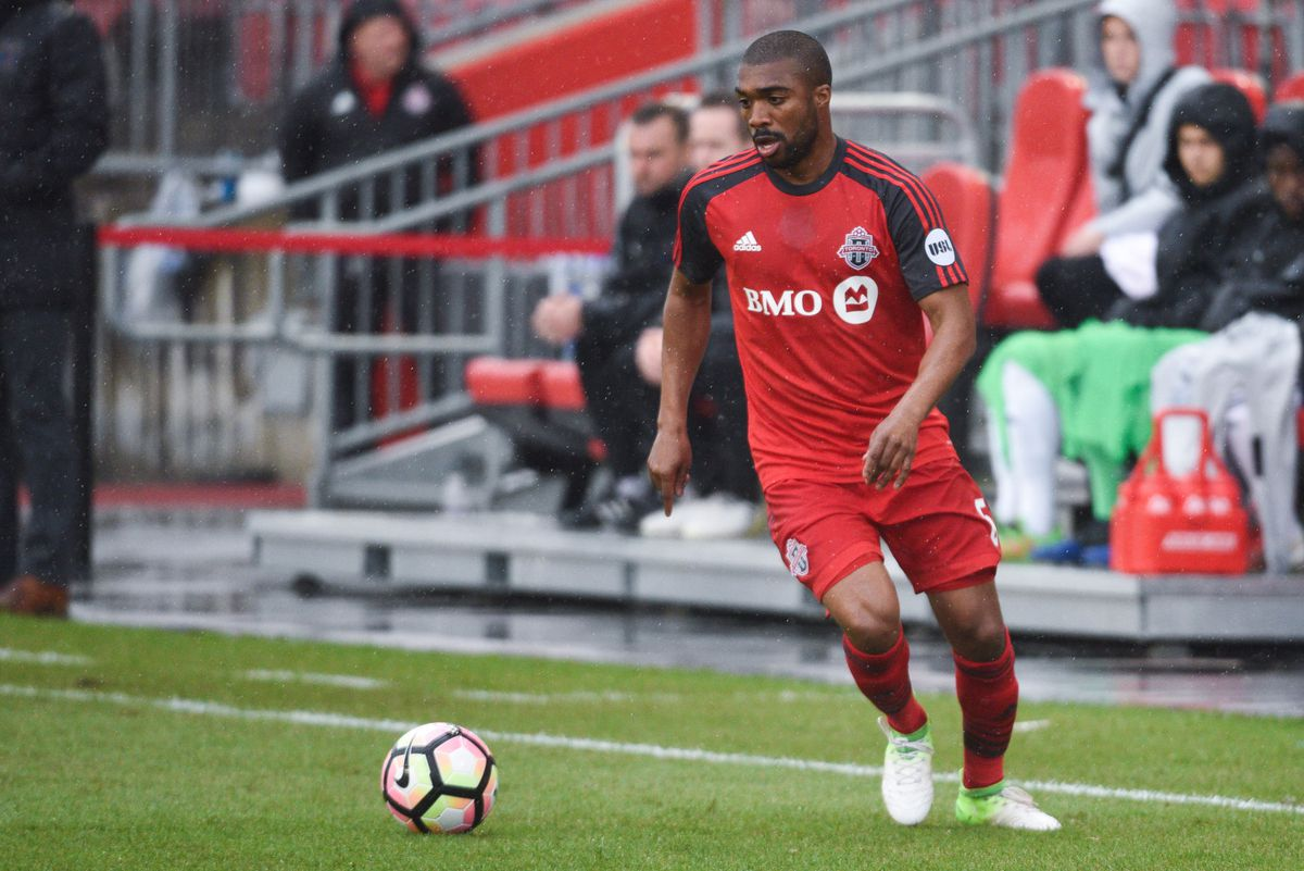 USL Photo - Ashtone Morgan gets on the ball in his return to the pitch