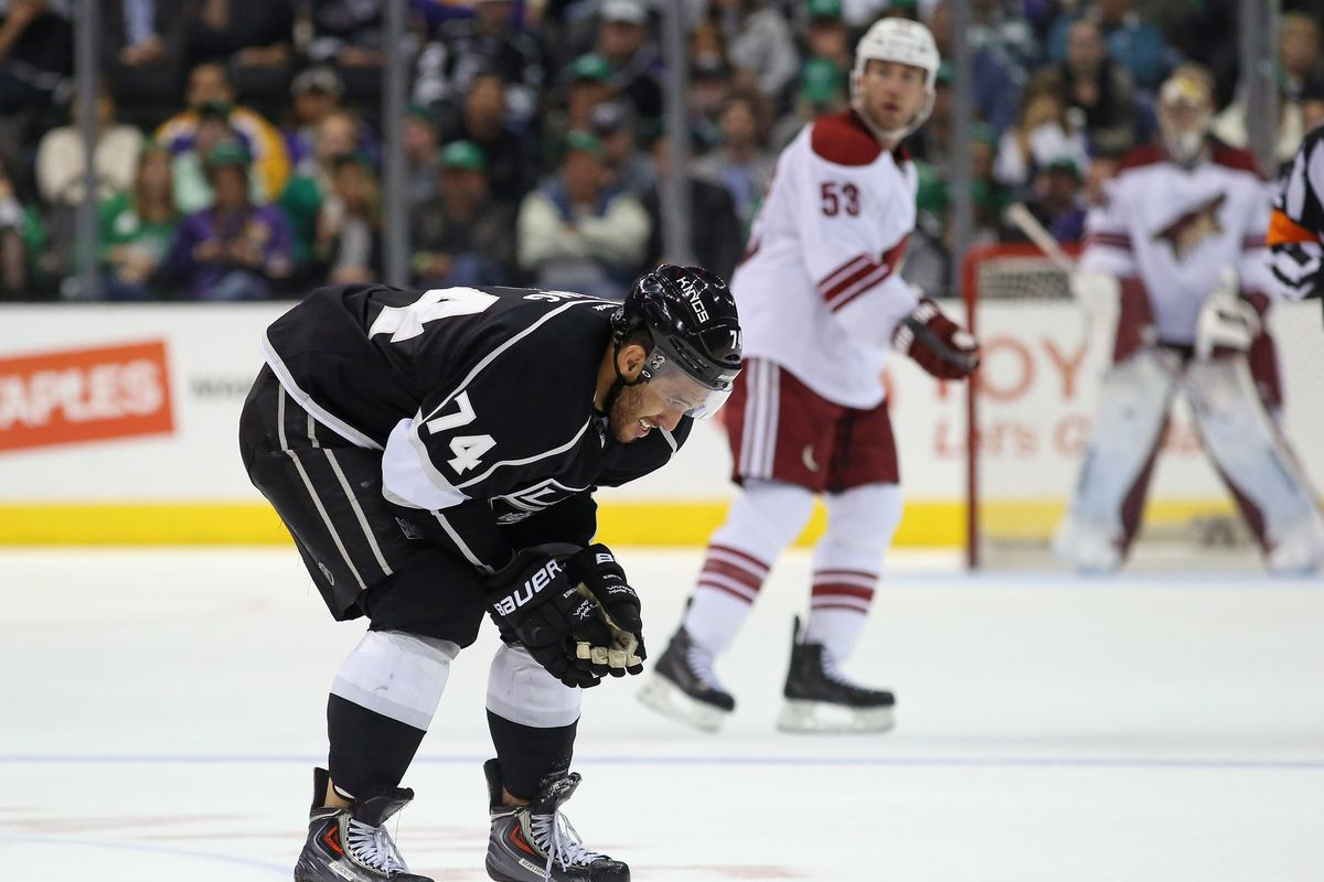 Dwight King ready to shit all over the Coyotes