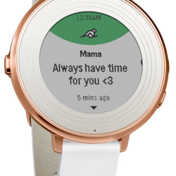If she's dropped any hints about a smart watch, the Pebble Round is your best bet; it's easy to navigate <i>and</i> it looks good.