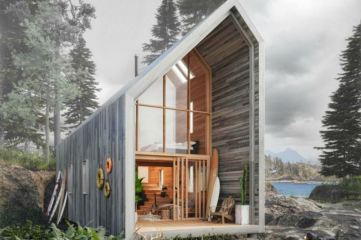 Prefab home offers nature getaway flatpack style curbed for Shack homes