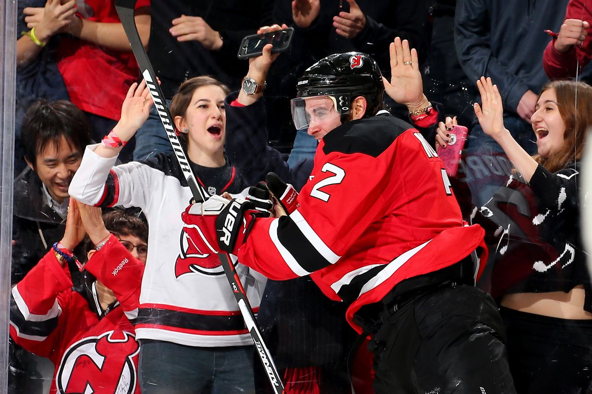 This was from the last time the Devils scored a power play goal.  John Moore scored on January 2.  Seven games since, no PPGs for NJ (or celebrations for one).