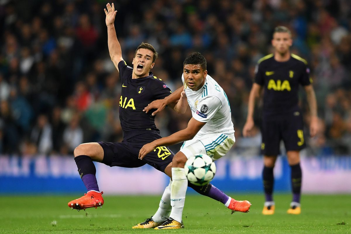 Harry Winks relished playing against his idol Luka Modric