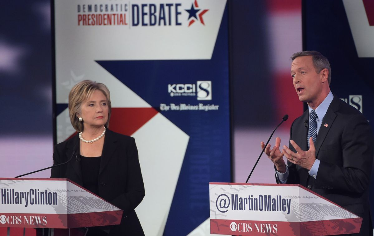 Martin O'Malley makes an effort (MANDEL NGAN/AFP/Getty)
