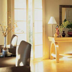<p>Functional as well as decorative, shades, blinds and shutters can be used on doors as well as windows to direct, filter or block out light.</p>