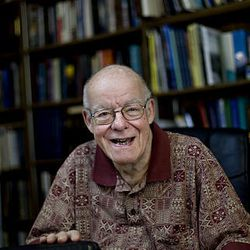 Wm. James Mortimer, former publisher of the Deseret News, at his home in Salt Lake City on Wednesday, Aug., 5, 2009.  Mortimer was involved with the publication of the first LDS Edition of the King James Version of the Bible in 1979.