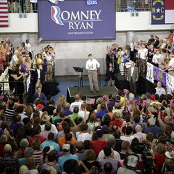Republican vice presidential candidate, Rep. Paul Ryan, R-Wis., speaks during a campaign event at East Carolina University, Monday, Sept. 3, 2012 in Greenville, N.C.