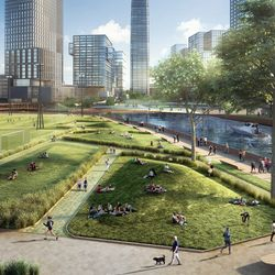 Artist's rendering of the Lincoln Yards development. | Provided by Skidmore, Owings & Merrill