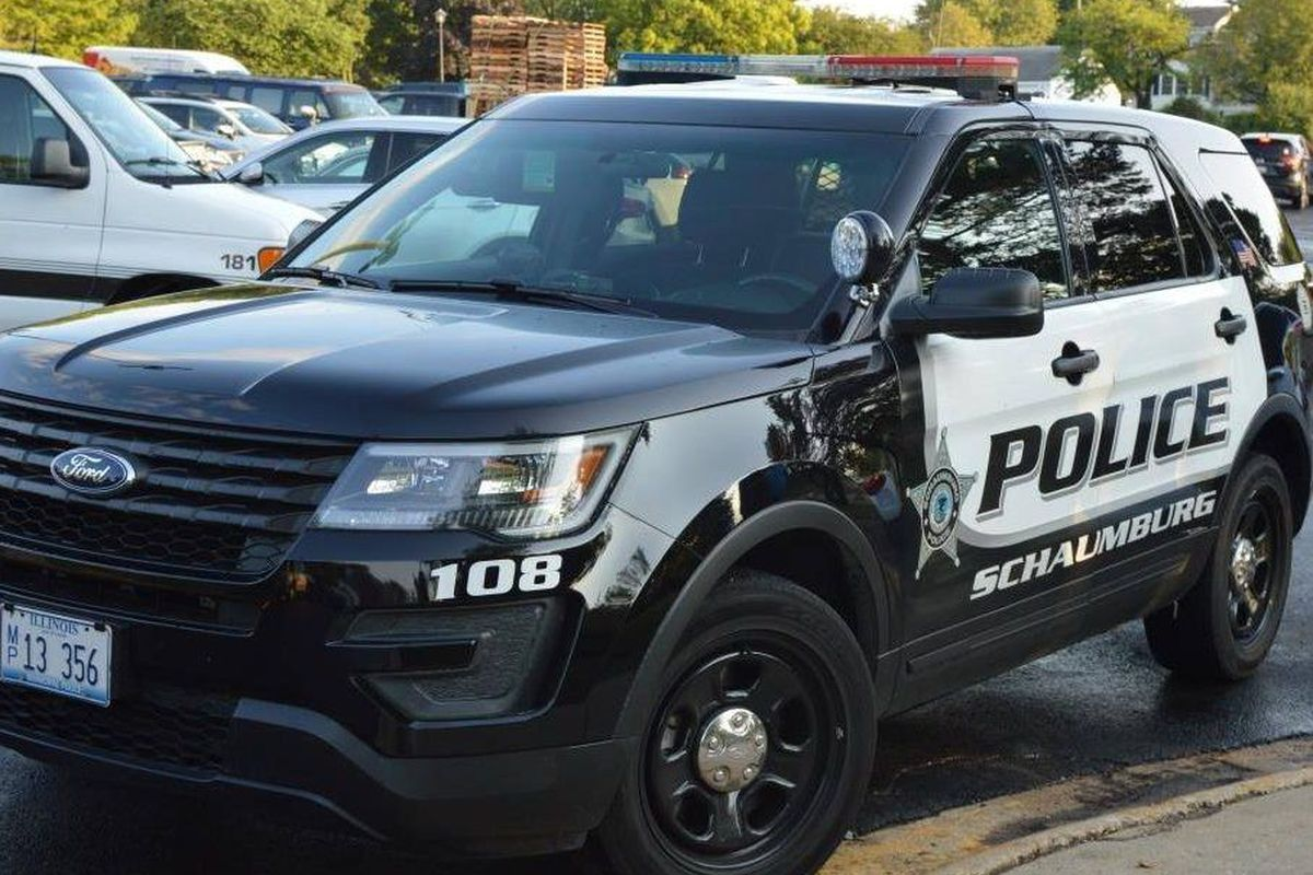 A Schaumburg Police vehicle