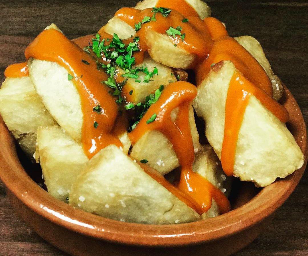 Patatas bravas at Estragon