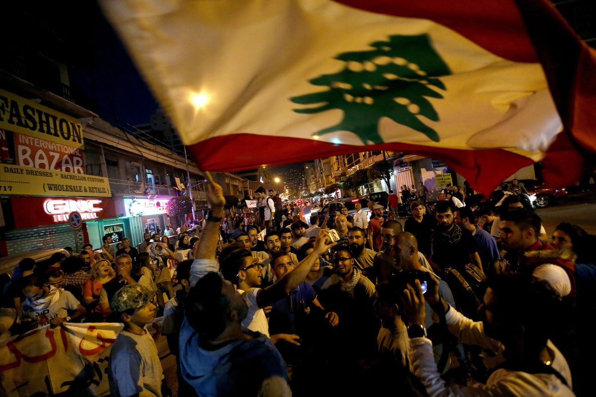 A November 1 protest over garbage collection in Beirut.
