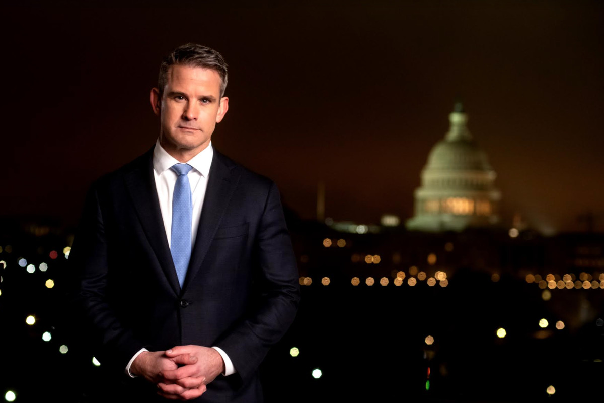 """Rep. Adam Kinzinger in a still from a 6 minute video in which he is starting """"a movement"""" to reclaim the GOP from fringe elements."""