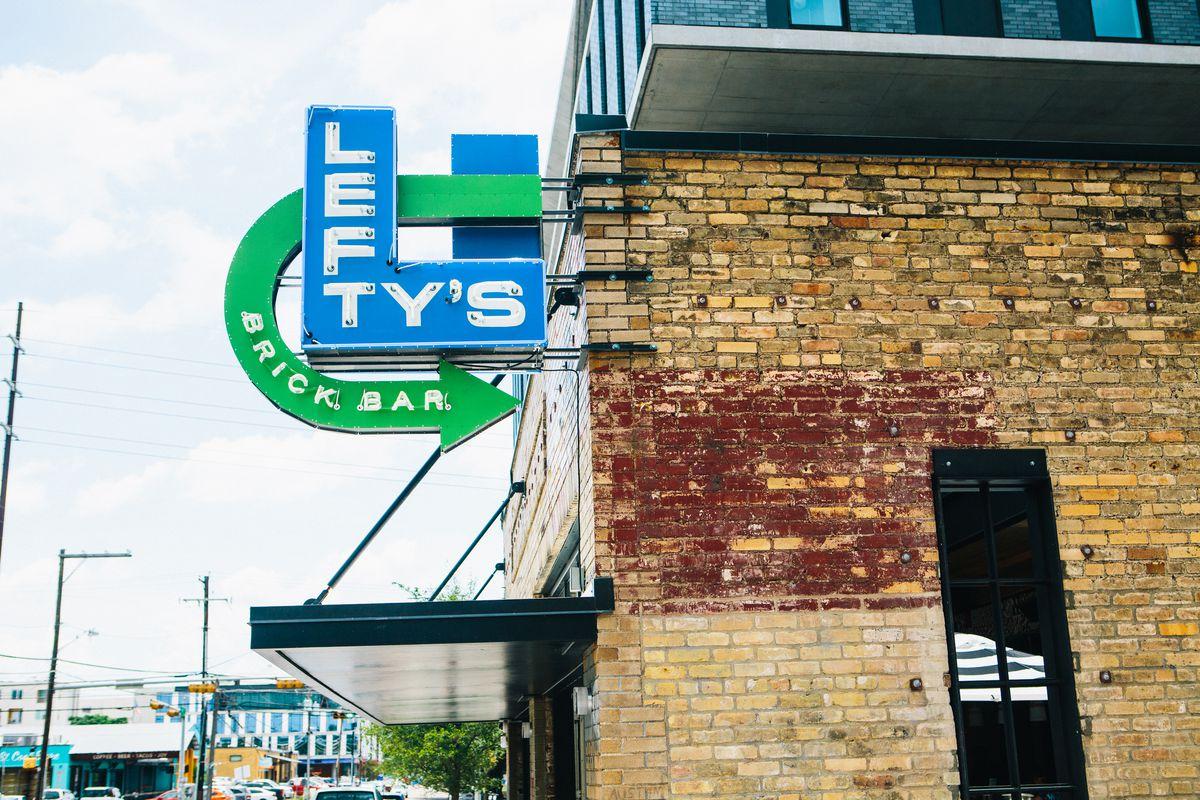 The sign at Lefty's Brick Bar
