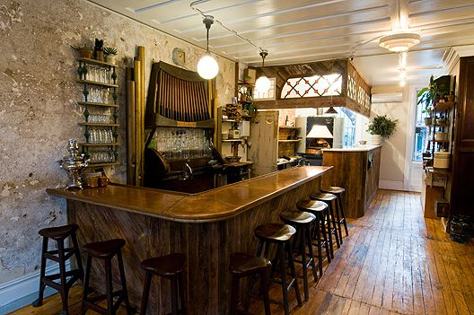 Vinegar Hill House's wooden bar