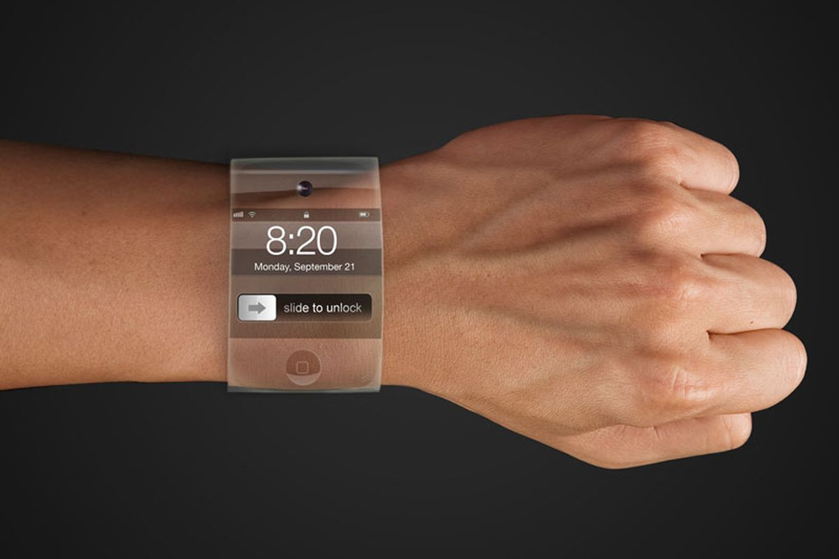 """An iWatch concept by Yrving Doveralba at <a href=""""http://venestudio.com/index.html"""">VeneStudio</a>; photo via <a href=""""http://venturebeat.com/2014/06/19/apple-gearing-up-for-july-iwatch-production-says-report/"""">VentureBeat</a>"""