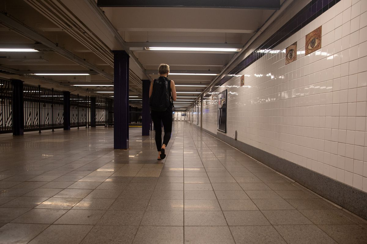 The Chambers Street station in Manhattan has seen a steep decline in ridership. June 9, 2021.