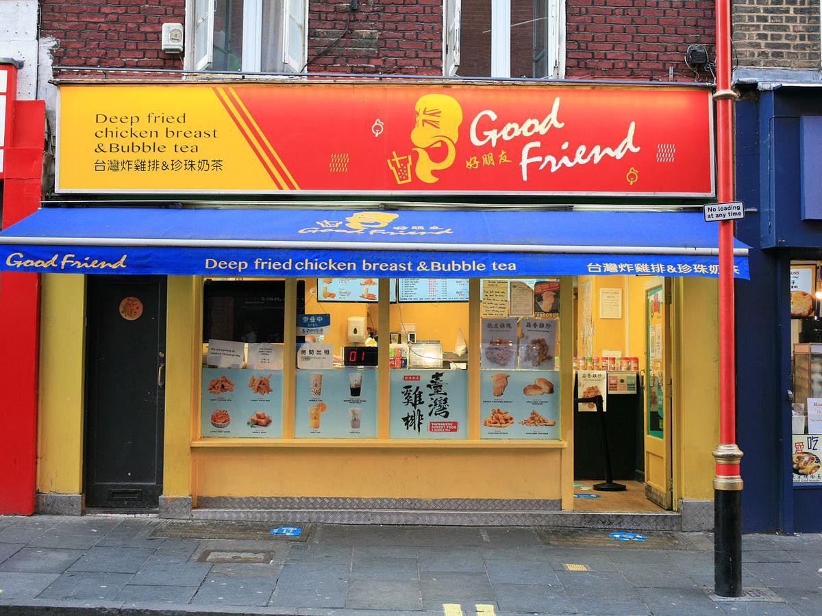 Good Friend Chicken is open for takeaway in Chinatown during the coronavirus lockdown in London
