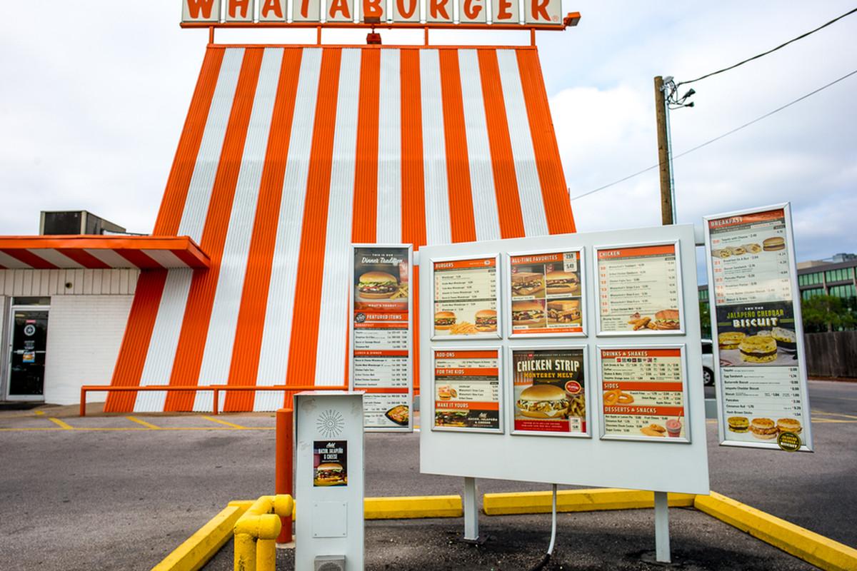 A classic Whataburger A-frame in Austin.
