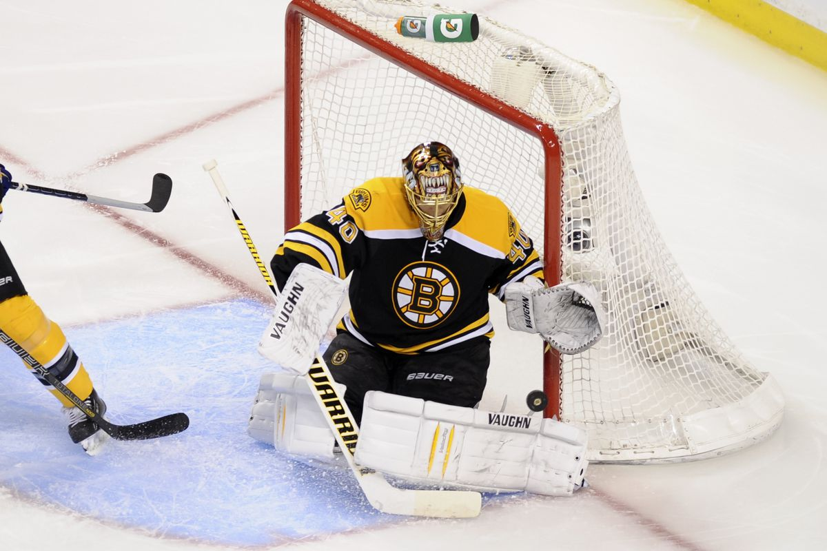 A fresh, confident and well-padded Tuukka Rask goes with the flow