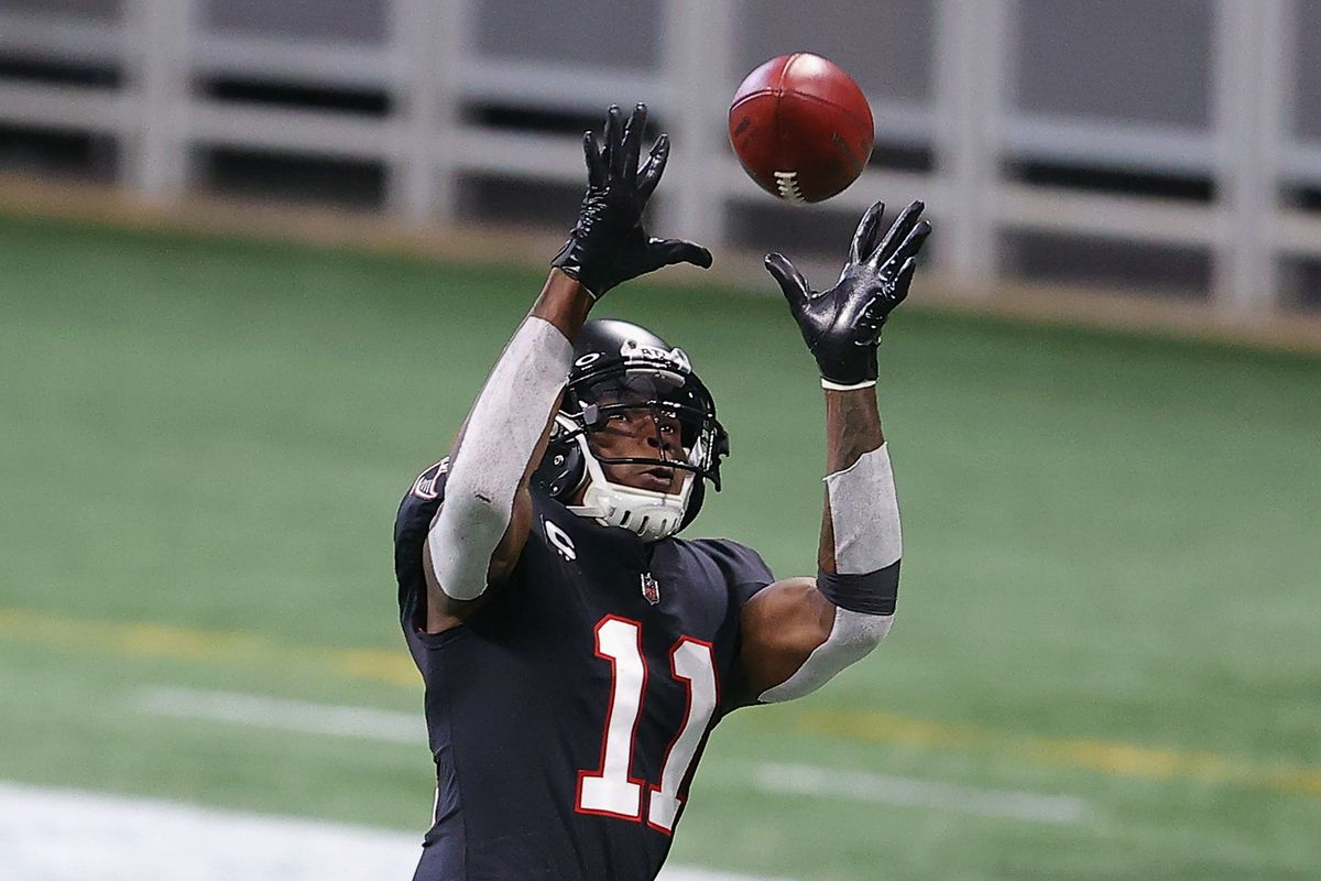 Julio Jones, a seven-time Pro Bowl player, ranks first in NFL history in averaging 95.5 receiving yards per game through 135 games, ahead of Calvin Johnson's mark of 86.1.