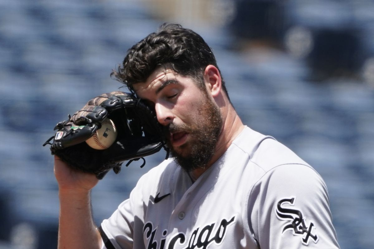 Carlos Rodon pitched four innings of four-run ball, allowing eight hits including homers to Salvador Perez and Michael Taylor.