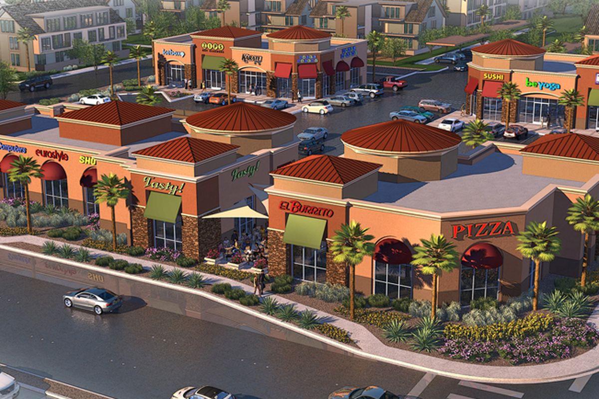 Rainbow Warm Springs retail center rendering