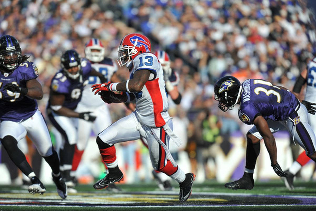 Stevie Johnson and the Bills torched Ravens CB Fabian Washington (31) in Week 7.