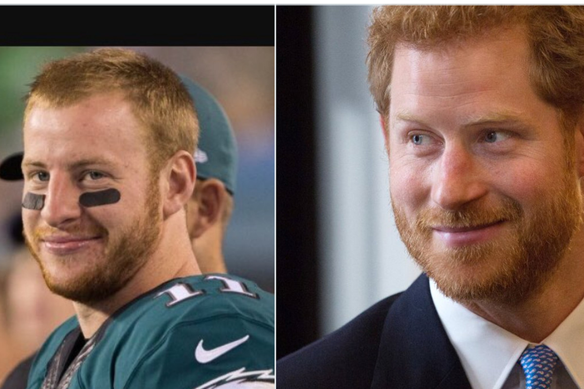 Carson Wentz Wedding.Even The Eagles Think Carson Wentz And Prince Harry Look Alike
