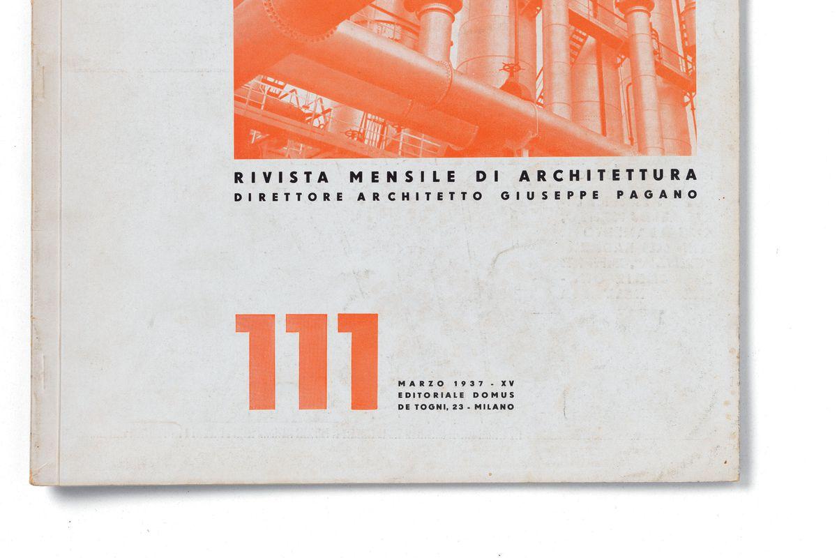 """Casabella, No. 111, March 1937 - XV, 20th Century, Arnoldo Mondadori Editore, Editoriale Domus, Milan, 28 x 31 cm."""