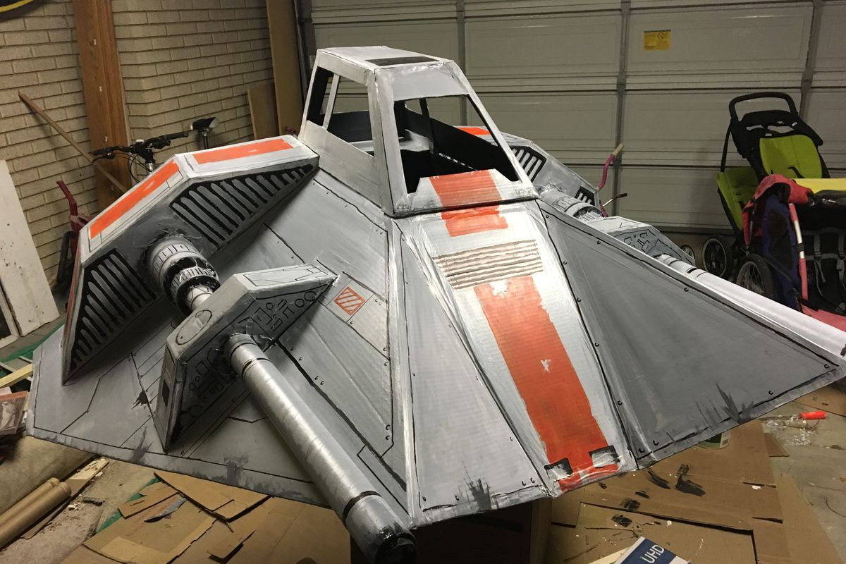 A Father Built A Kickass Star Wars Ship Out Of Cardboard