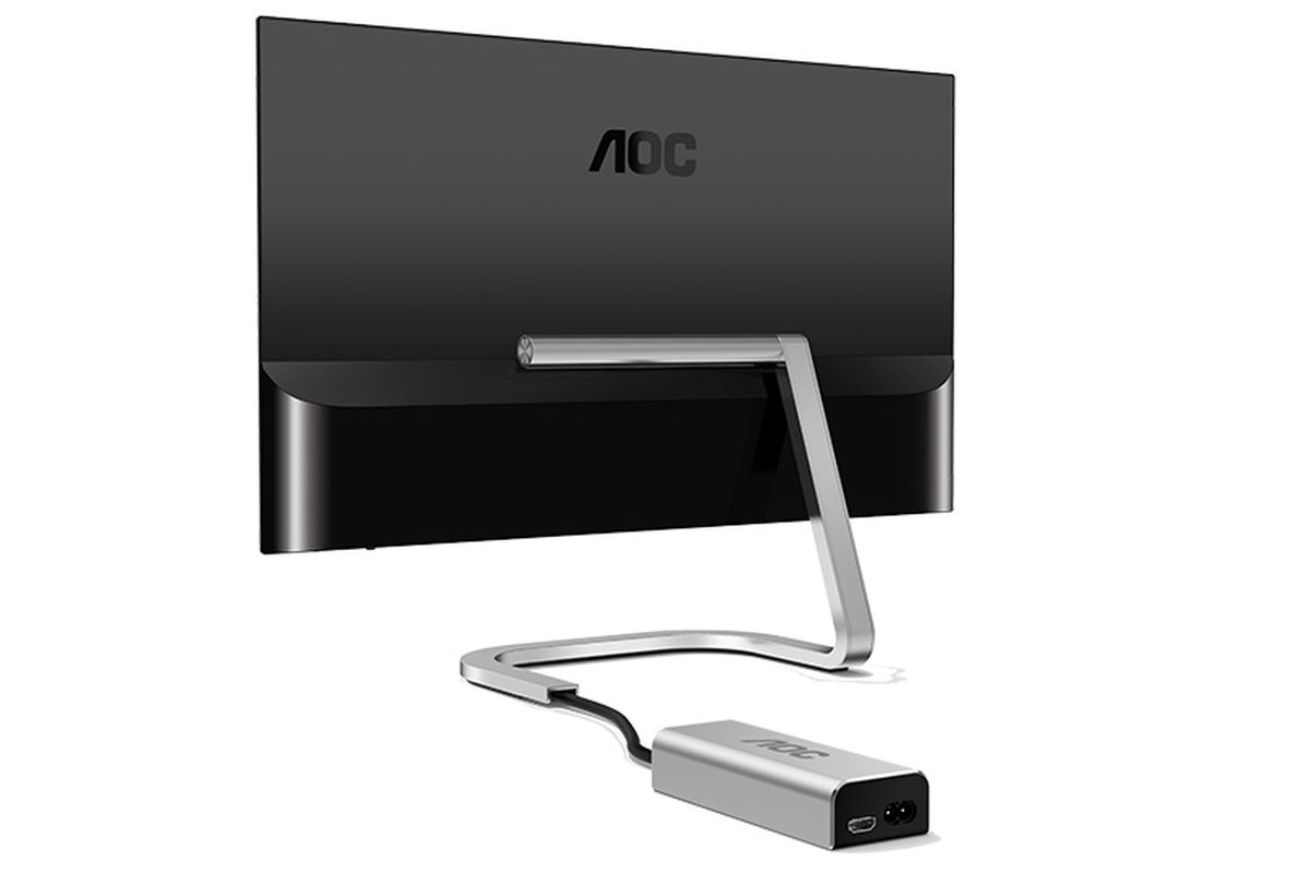 New AOC monitors go near-borderless, modular