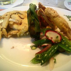 """Soft shell crab from Osteria Morini by <a href=""""http://www.flickr.com/photos/37619222@N04/7145036755/in/pool-29939462@N00/"""">The Food Doc</a>."""