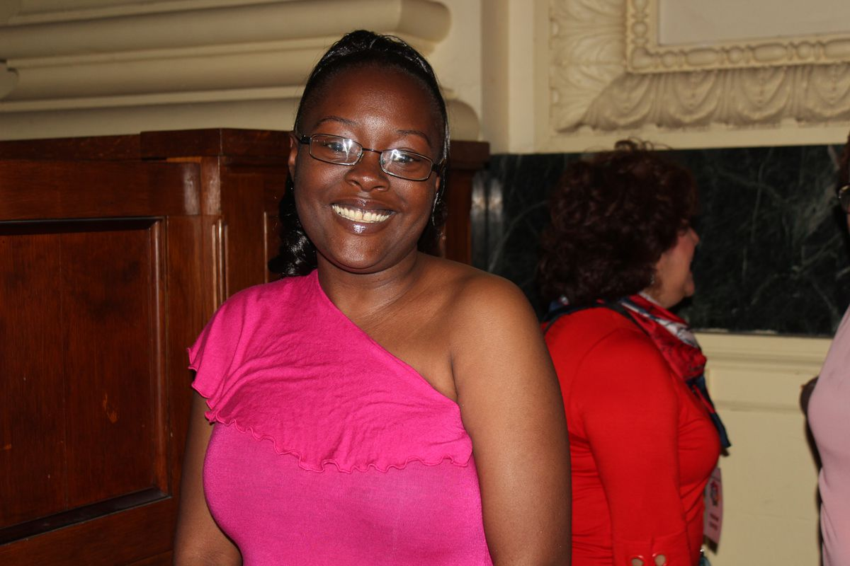 Hermosa resident Laquita Simmons, parent mentor coordinator at McAuliffe Elementary School.
