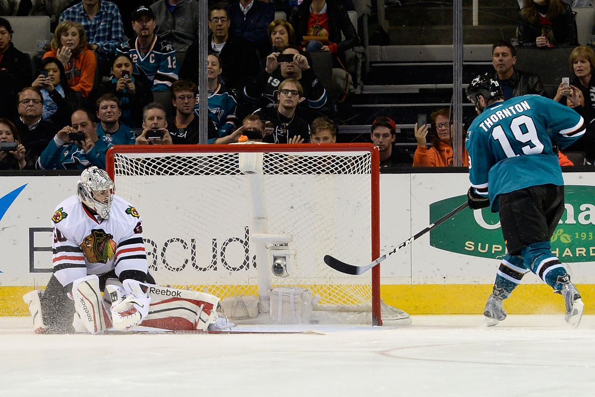 Hey Crawford, the slow guy with the weak shot is over on the other side of the ice.