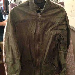 $250 Washed Leather Jacket