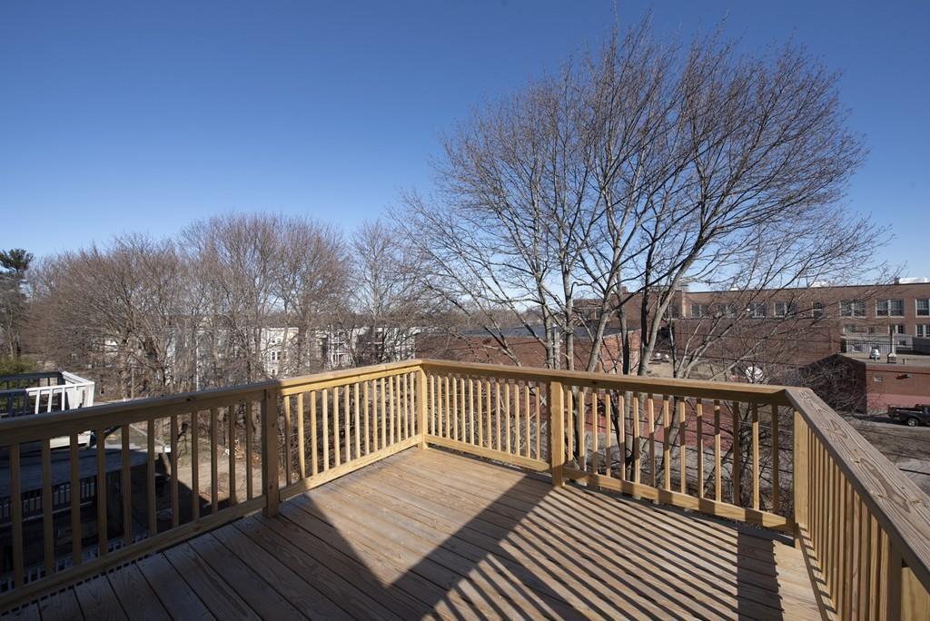 A rectangular, empty deck.