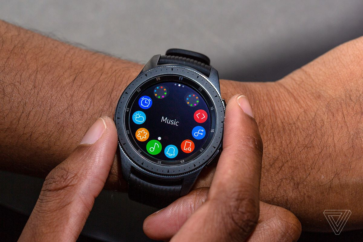 Samsung Galaxy Watch Review Iteration Over Innovation The Verge Electronics At Glance Lets Innovate Page 2 Same Can Be Said For Stress Tracking If I On My Wrist Turn Bezel To Widget And Tap Measure Get A Gauged