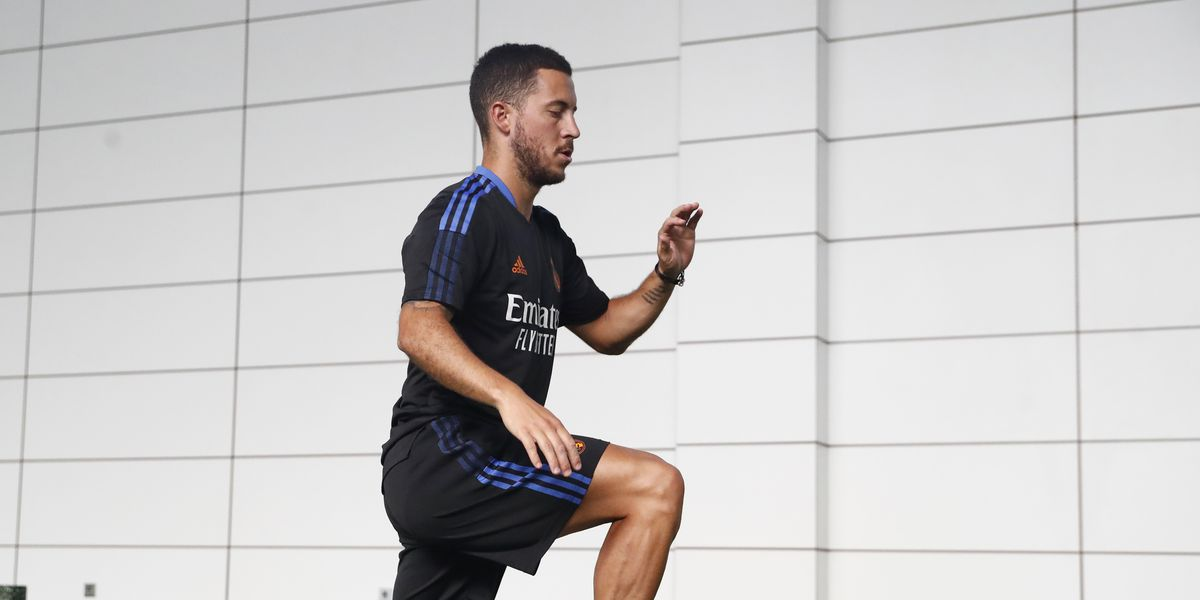 Hazard still recovering from the injury he picked up in the Euro