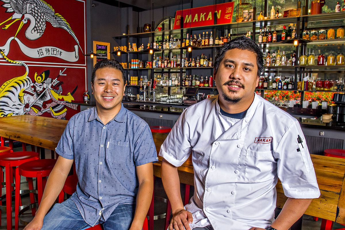 Michael Lo [left] and George Yu at Makan.