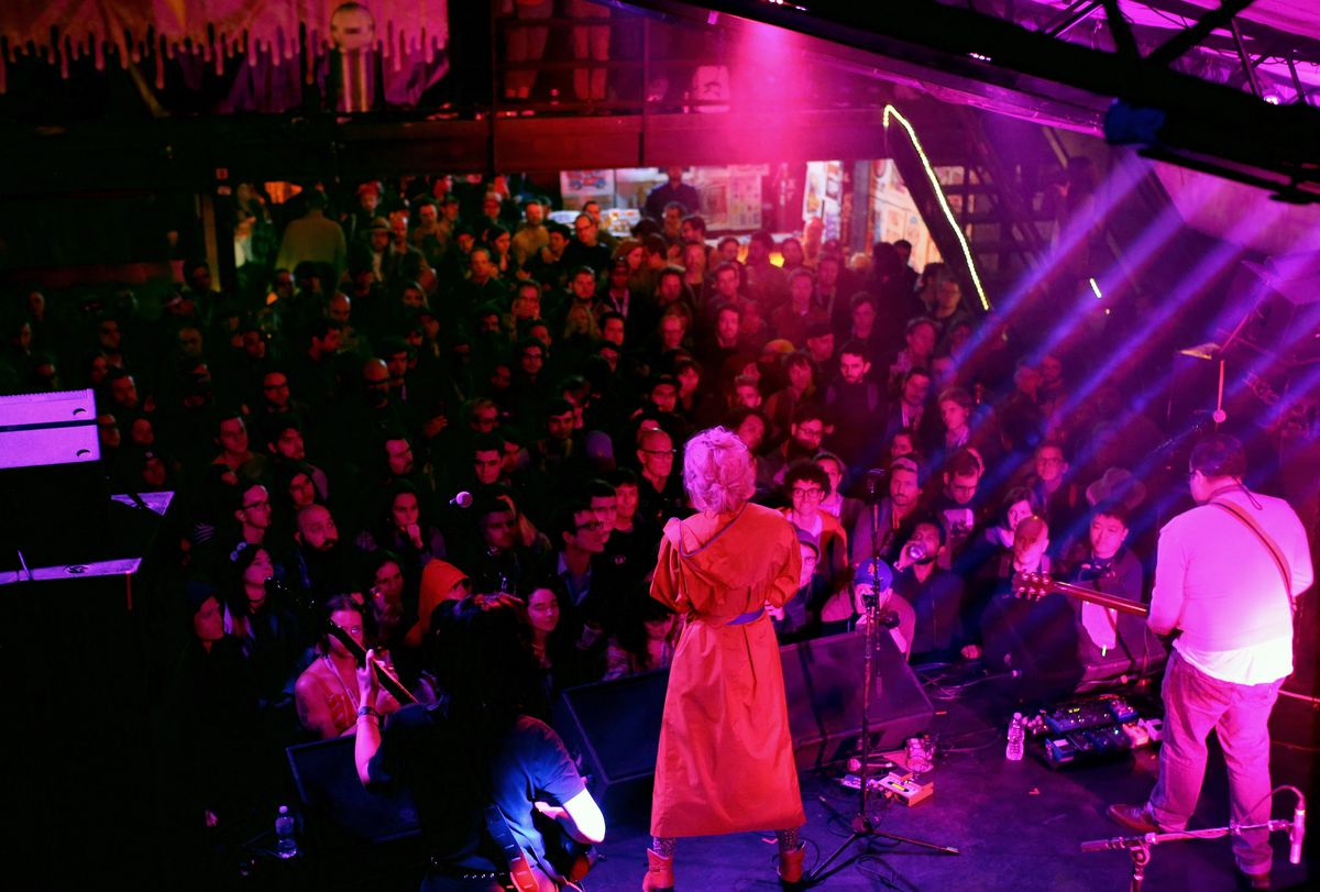 Post-punk band Priests performed at the Mohawk during SXSW in2019