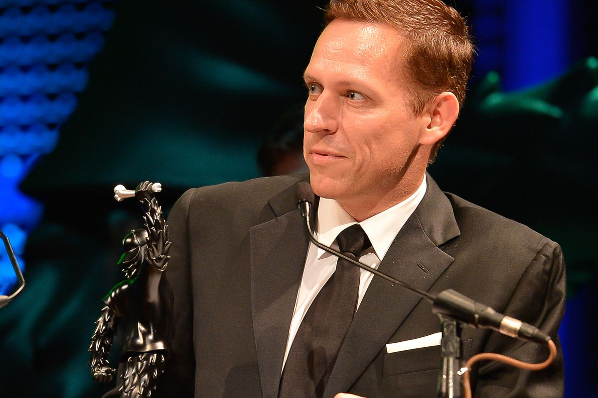 Peter Thiel wins Venture Capitalist of the Year in 2012.