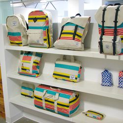 """Stripes on stripes on stripes from <a href=""""http://www.herschelsupply.com/"""">Herschel Supply Co.</a> over at The Ntwrk's showroom."""